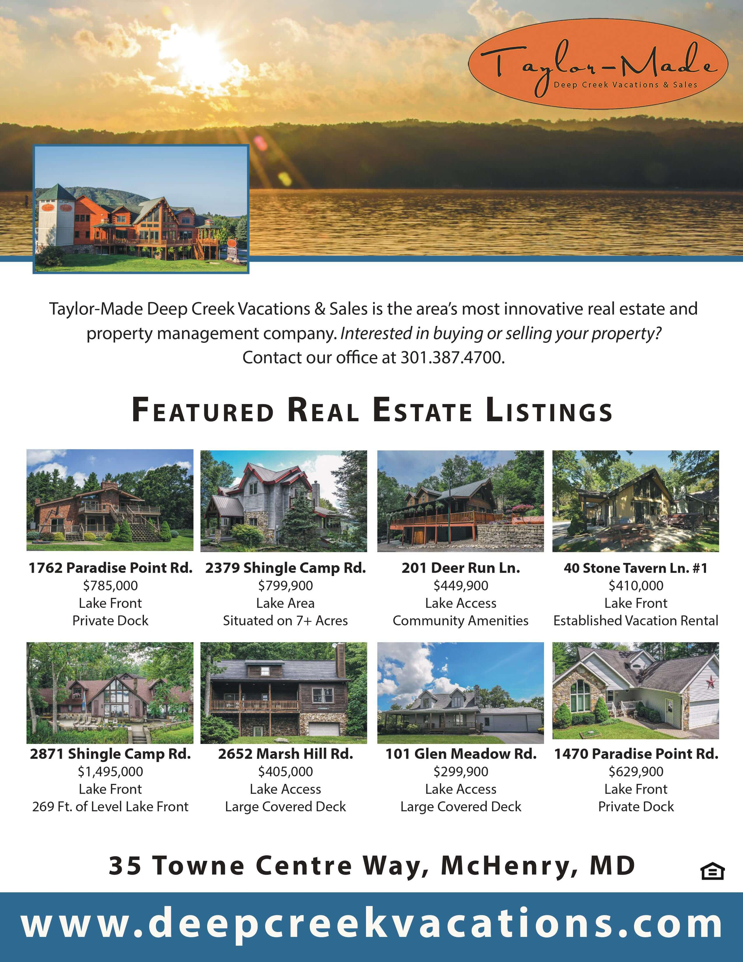 Taylor Made Real Estate August 2019