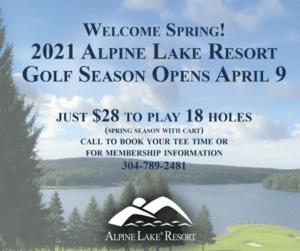 2021 Alpine Lake Resort Golf Season