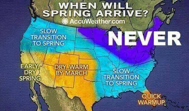 When will spring arrive map - 2018