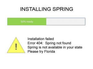 Installing Spring Failure Message
