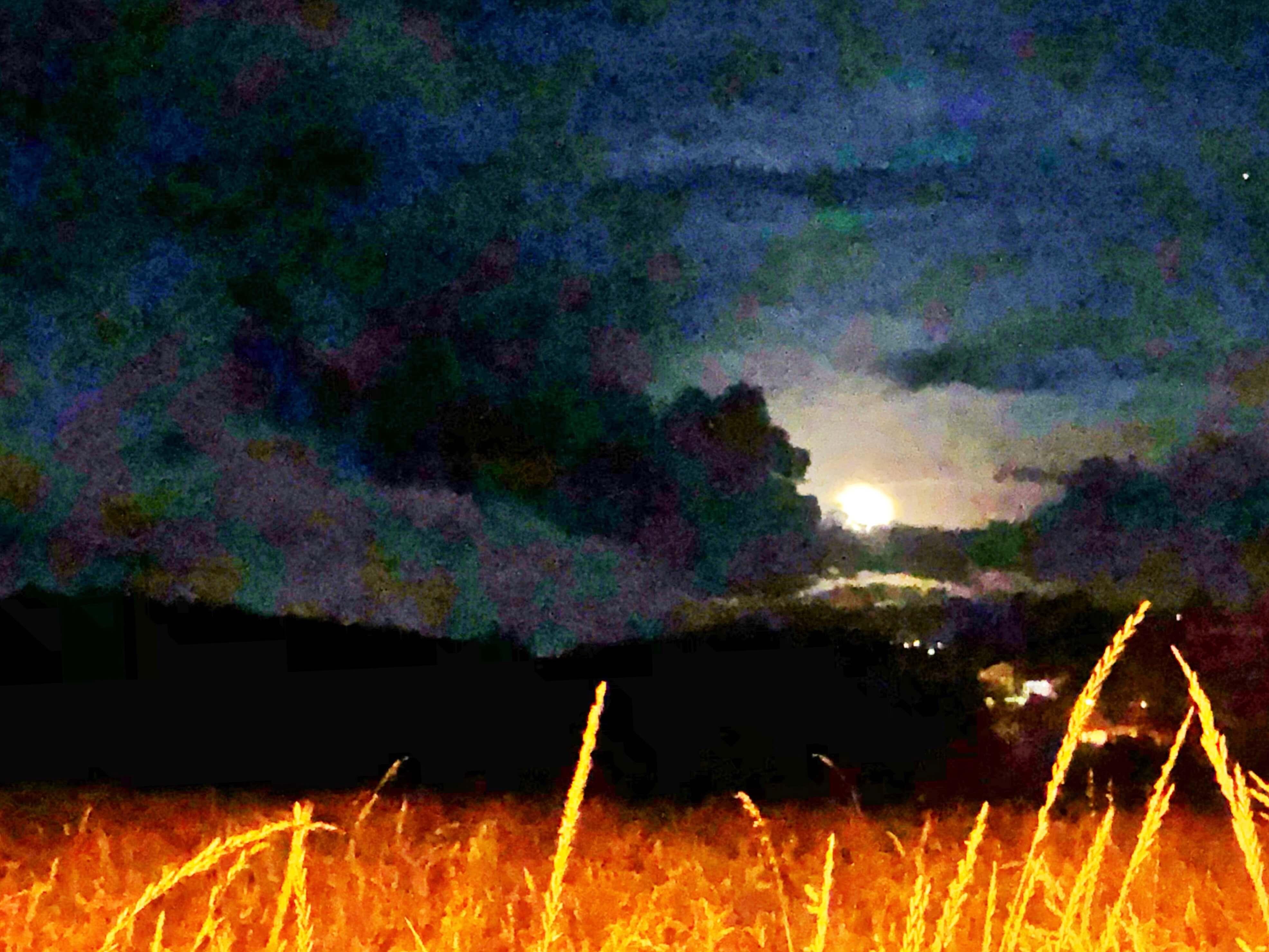 Waning Gibbous Moon in Deep Creek Lake, MD