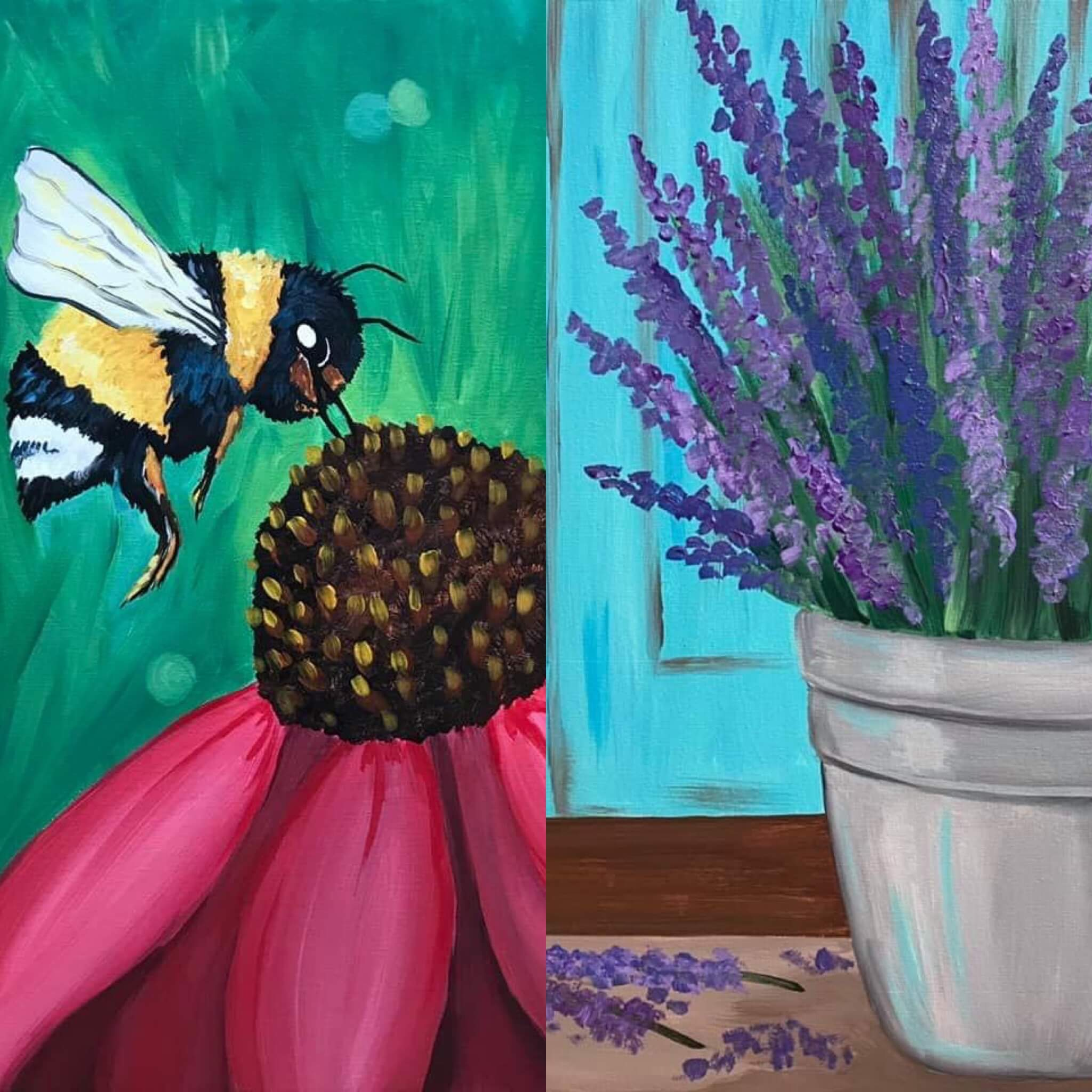 A Thirst For Art at DC Lavender Farm {Lavender or Bumble Bee}
