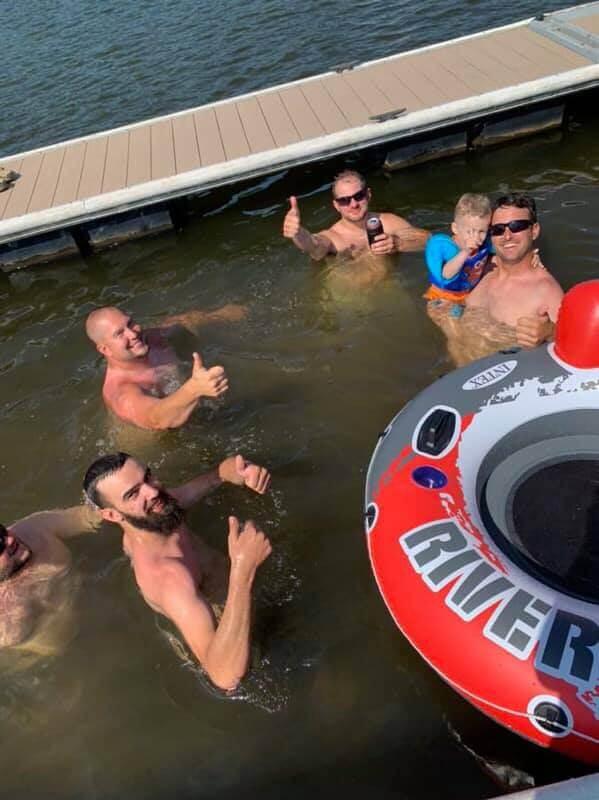 Alex DePerro Swimming in Deep Creek Lake, MD