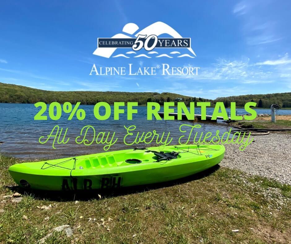Alpine Lake Resort: 20% Off Lake House Rentals