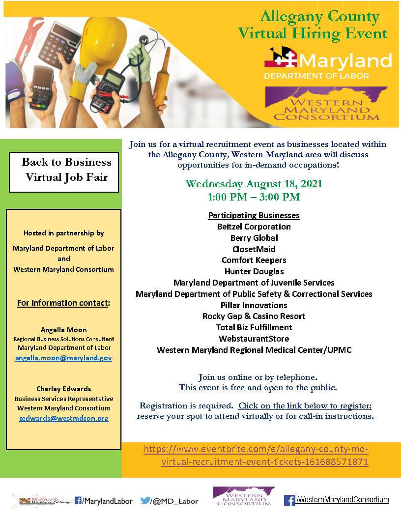Back to Business Virtual Job Fair