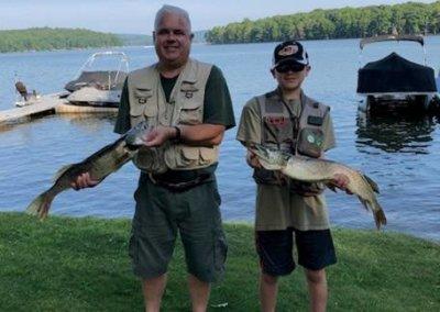Barbara Gruse Fishing at Deep Creek Lake, MD2