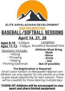 Baseball/Softball Sessions