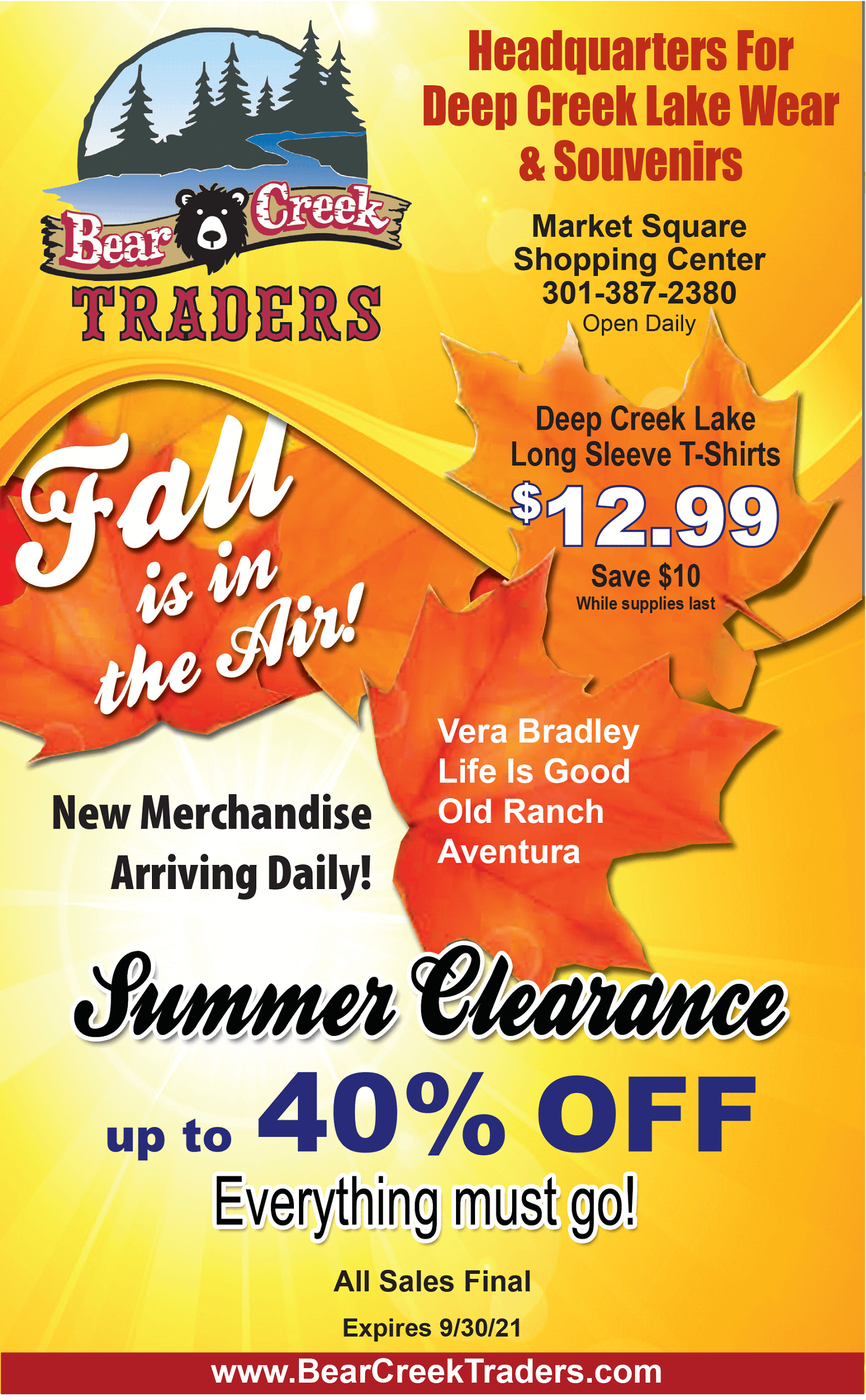 Bear Creek Traders: Labor Day Weekend Special