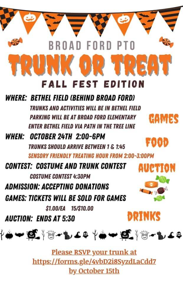 Broad Ford Trunk or Treat (Fall Fest Edition)