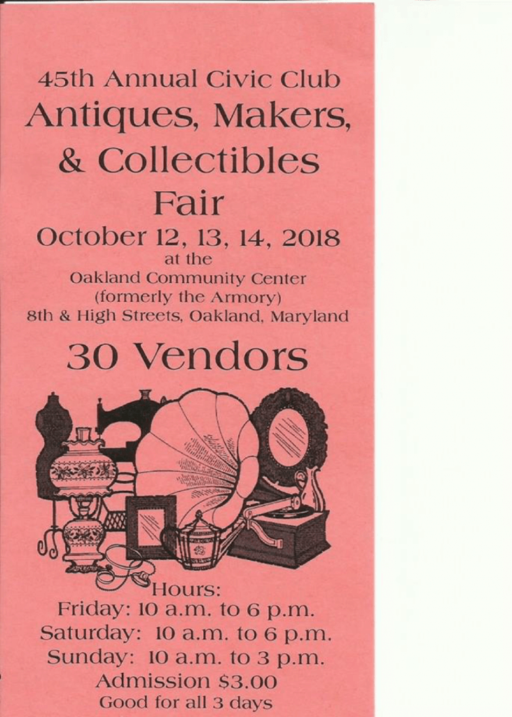 Civic Club Autumn Maker Fair
