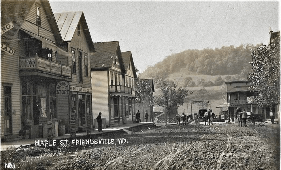 Downtown Friendsville 1800s - Al Feldstein