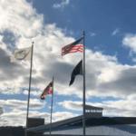 Flags at Garrett College