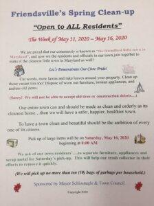 Friendsvilles CleanUp Flyer