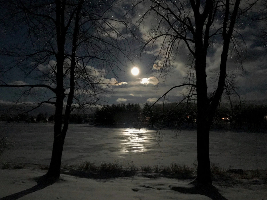 Moon Photo at Deep Creek Lake, MD by Vicki Schwinabart