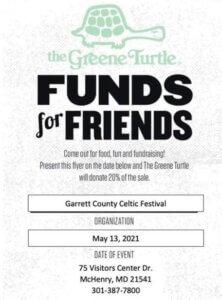 Garrett County Celtic Festival Fund Raiser at the Greene Turtle