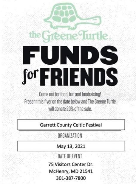 Garrett County Celtic Festival Fund Raiser at the Greene Turtle