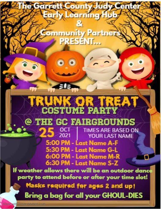 Garrett County Judy Center: Trunk or Treat Costume Party