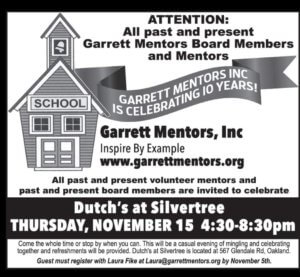 Garrett Mentors 10-year Celebration Event