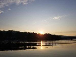 Heather Brown Hamilton Sunrise Boat Ride on Deep Creek Lake, MD
