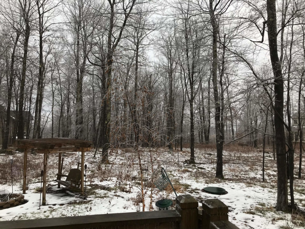 Deep Creek Lake area after the ice storm