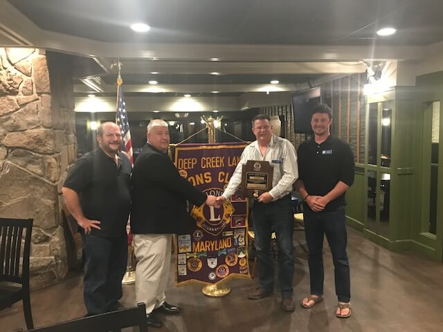 Ken Bush Receives Melvin Jones Fellow Honor at Deep Creek Lake, MD