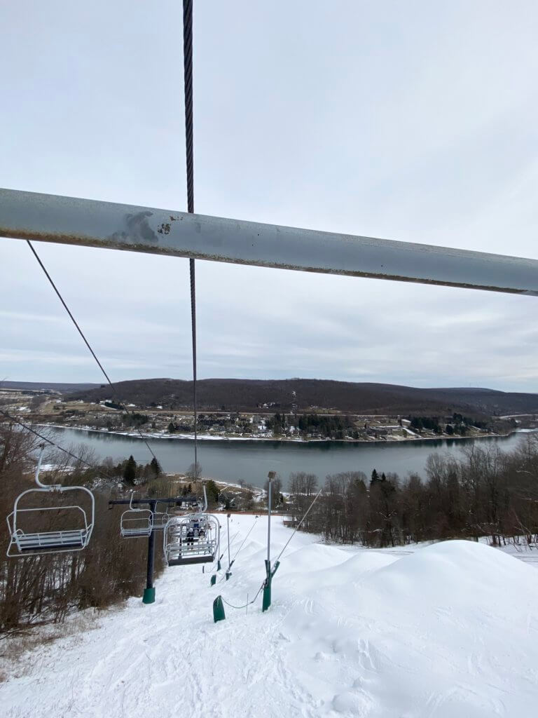Deep Creek Lake, MD from the Wisp Resort Chairlift