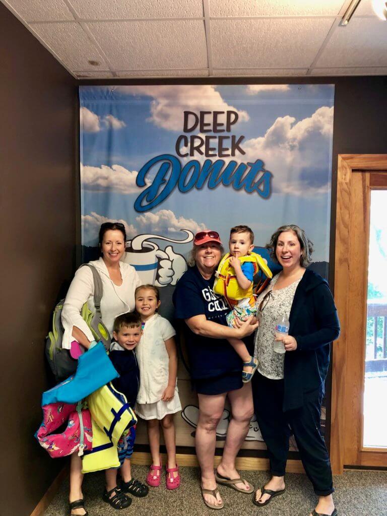 Fun at Deep Creek Lake, MD and Deep Creek Donuts