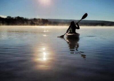 Katarina Knezavic Kayak at Deep Creek Lake