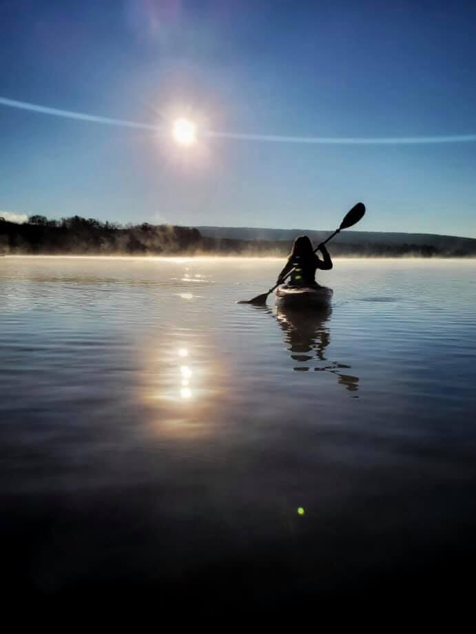 Katarina Knezavic Kayak at Deep Creek Lake