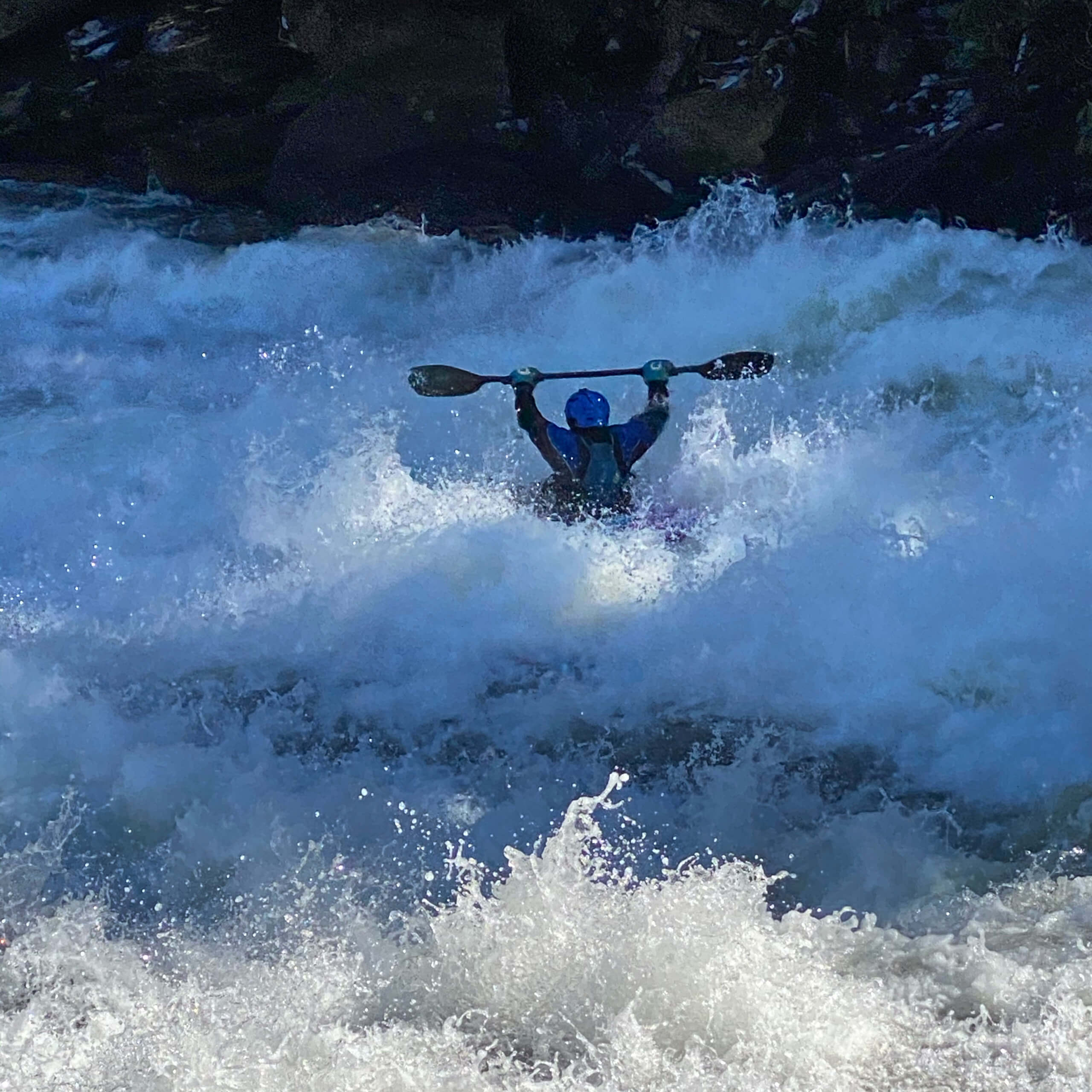 Kayaking at Swallow Falls in March 2020