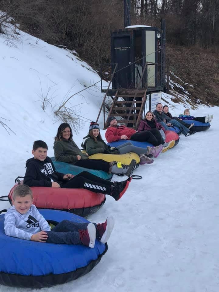 Leann Rhodes-Ickes Snow Tubing at Deep Creek Lake, MD
