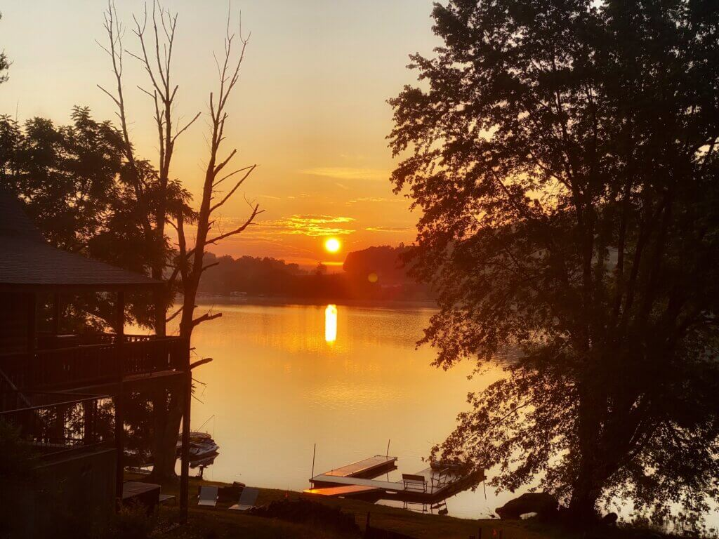 Liz Devoss sunrise at lake 7-20-20