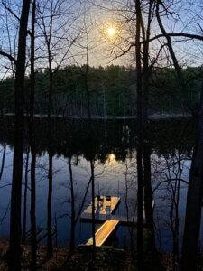 Matt Dugan Pink Supermoon over Deep Creek Lake, MD