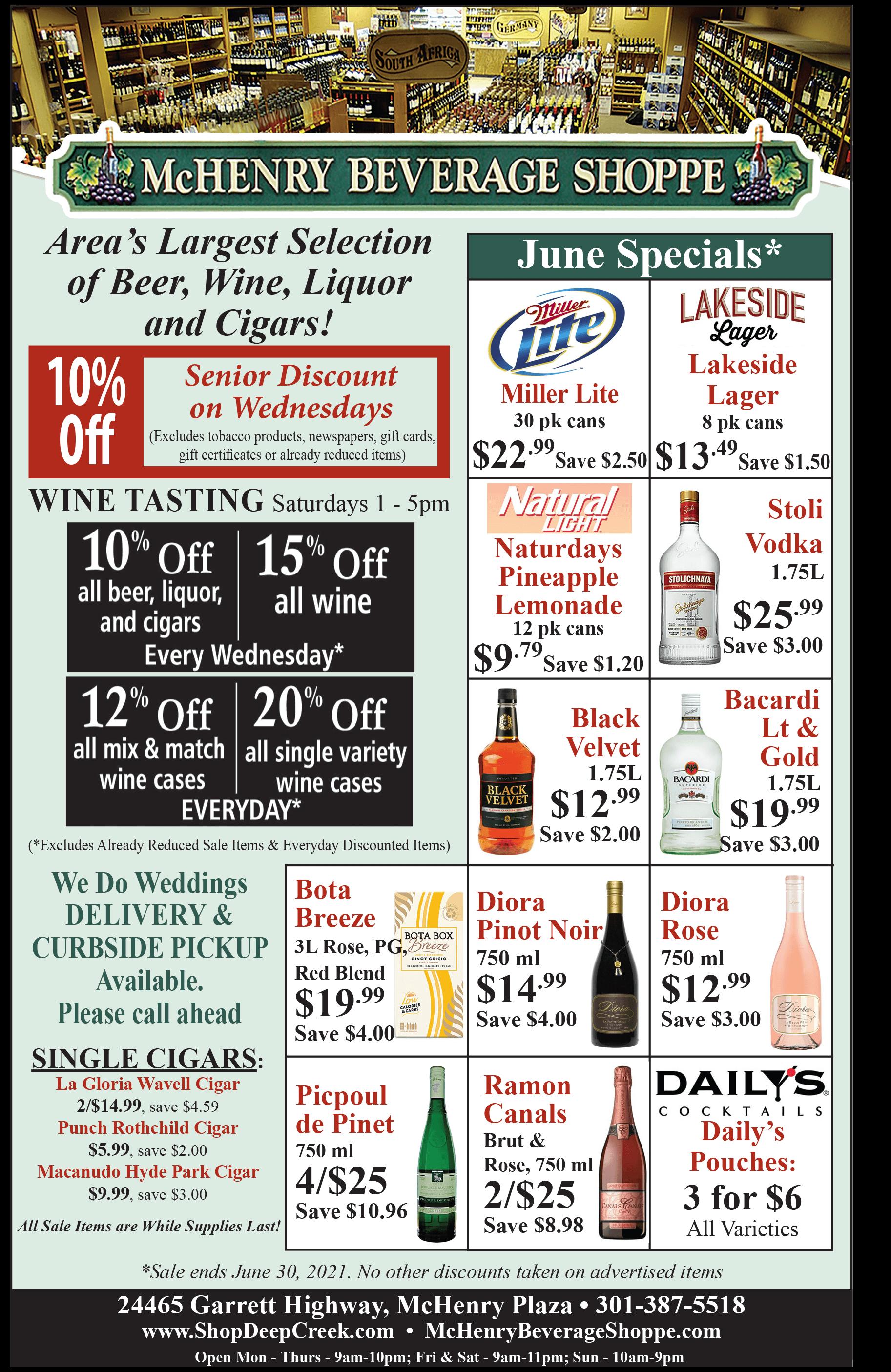 McHenry Beverage Shoppe - April 2021