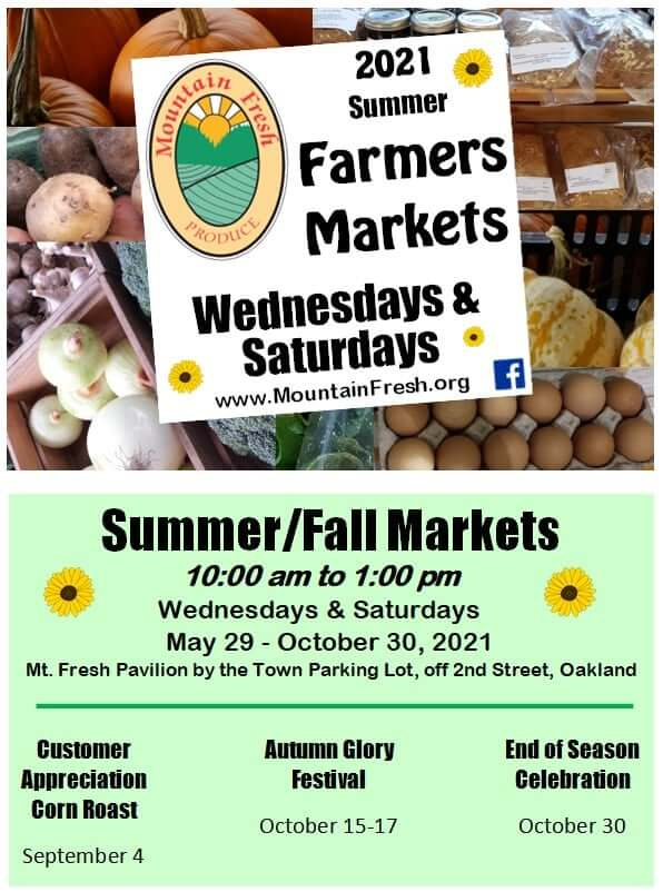 Mountain Fresh Farmers Market: 2021 Summer Markets