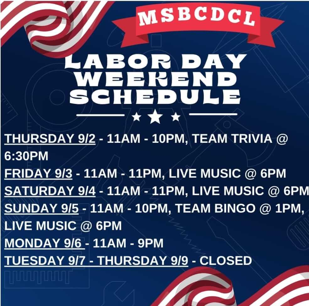 Mountain State Brewing Co.: Labor Day Weekend Schedule