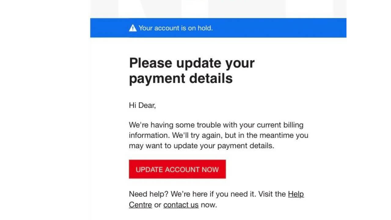 Netflix Payment Scam