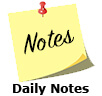 Daily Notes, News, Events and Update Icon