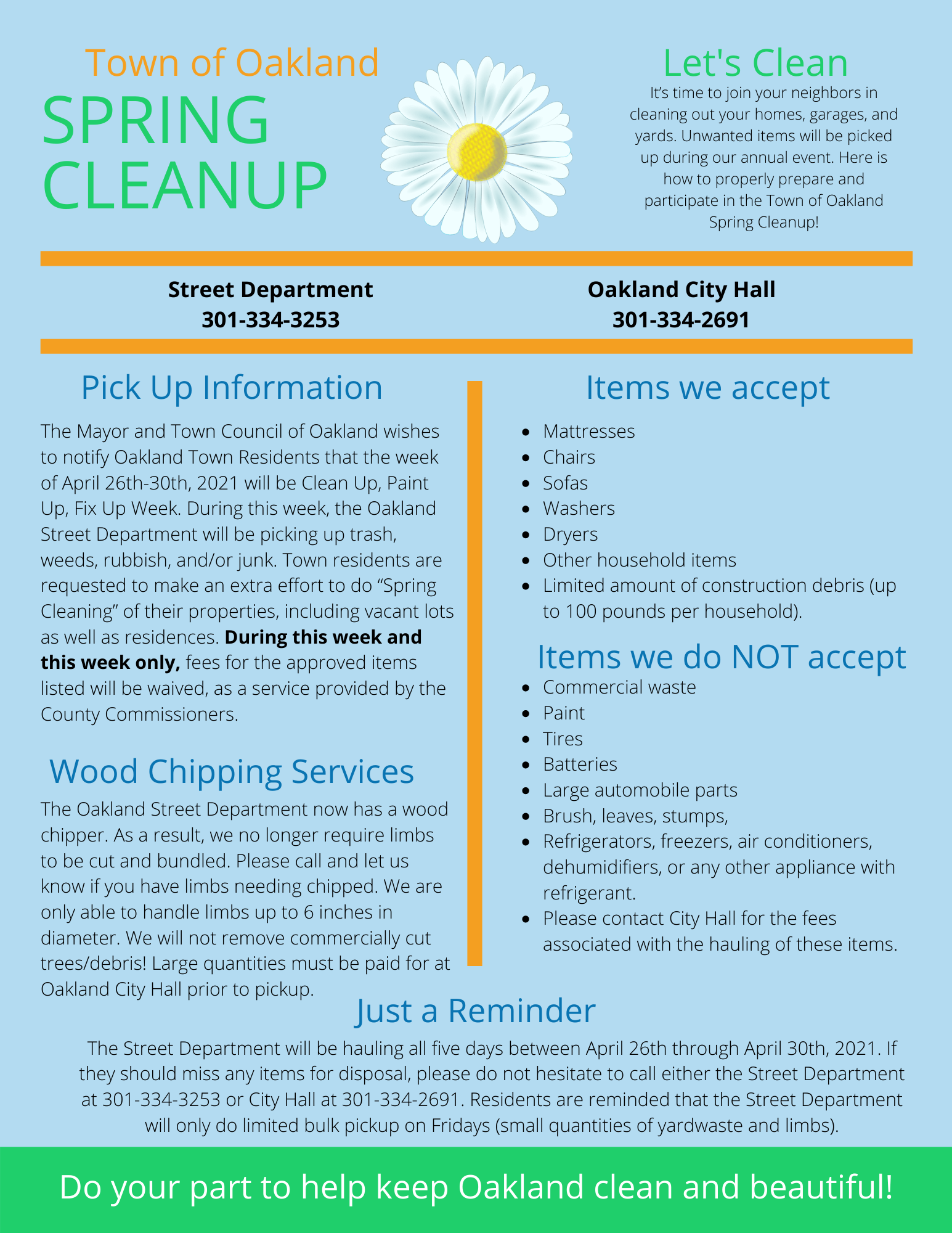 Oakland Spring Cleanup