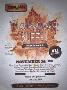 Penn Alps Thanksgiving Buffet Granstville MD