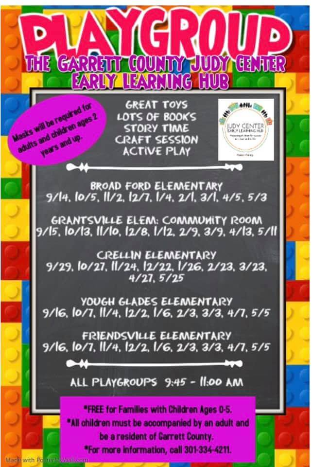 Playgroup: The Garrett County Judy Center Early Learning Hub