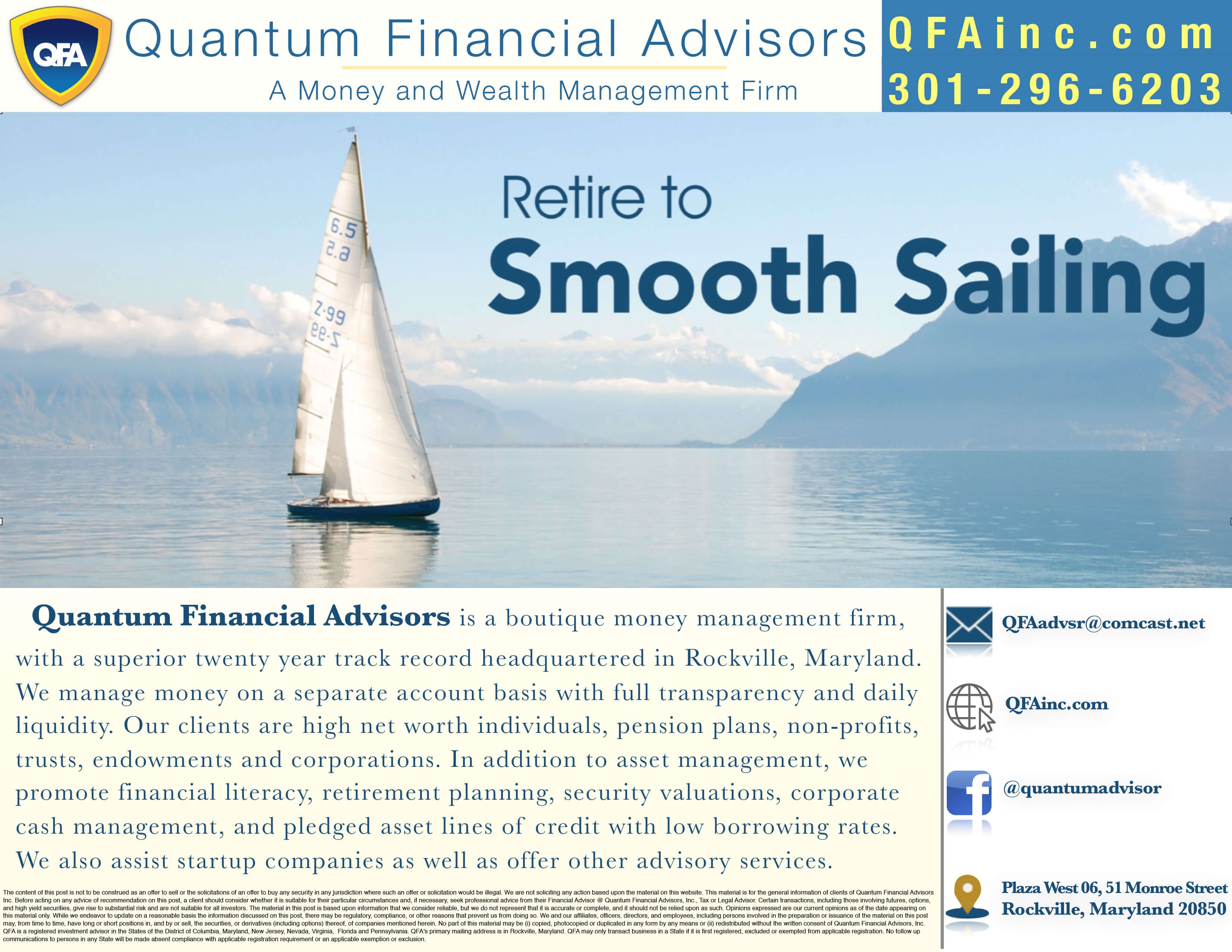 Quantum Financial Advisors Serving Deep Creek Lake MD