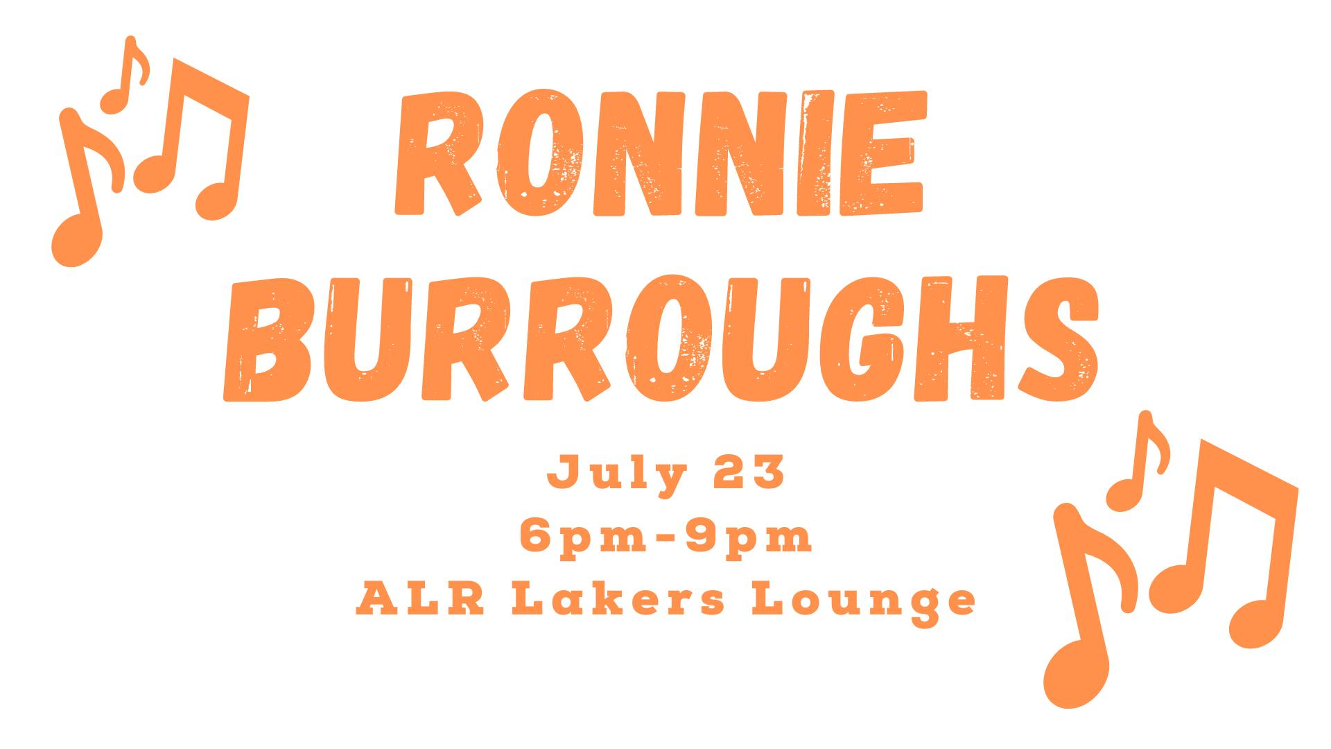 Ronnie Burroughs in the ALR Lakers Lounge