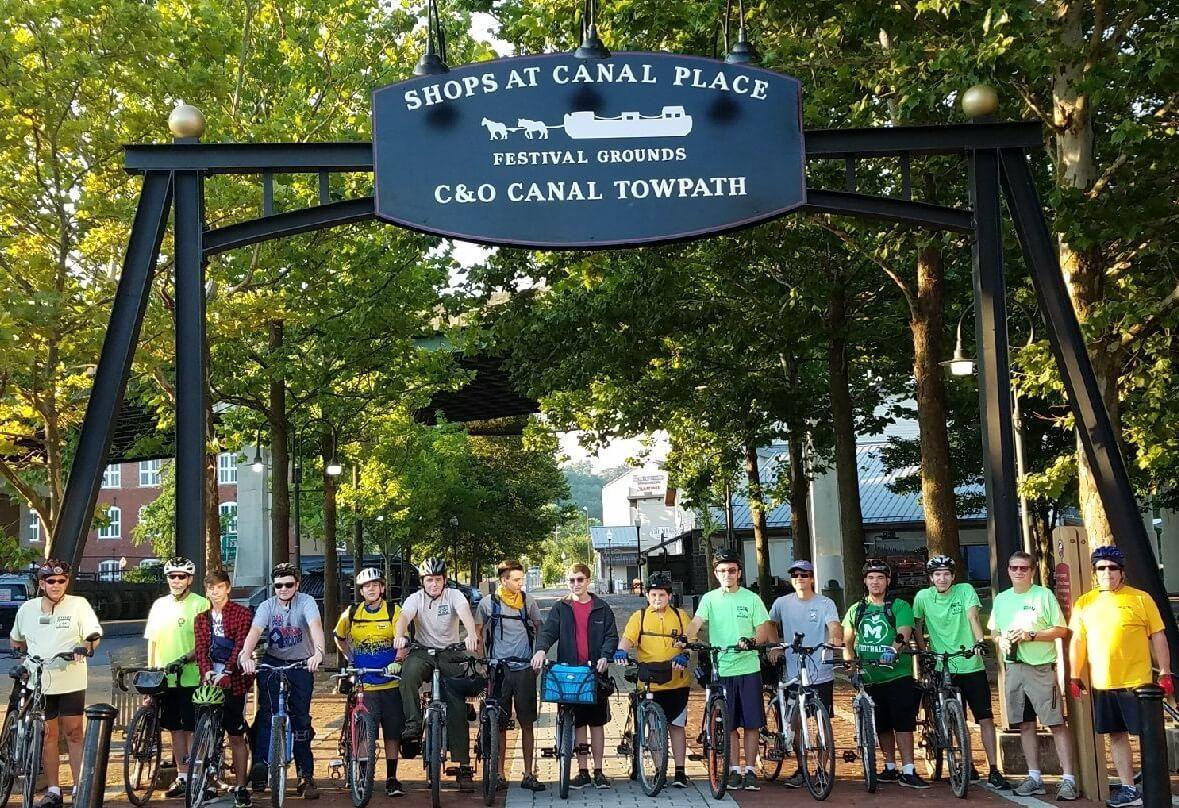 """Bike/Hike fundraiser and """"Scout Skills Show"""" at Canal Place"""