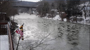 Youghiogheny River Lake with ice in Friendsville, MD