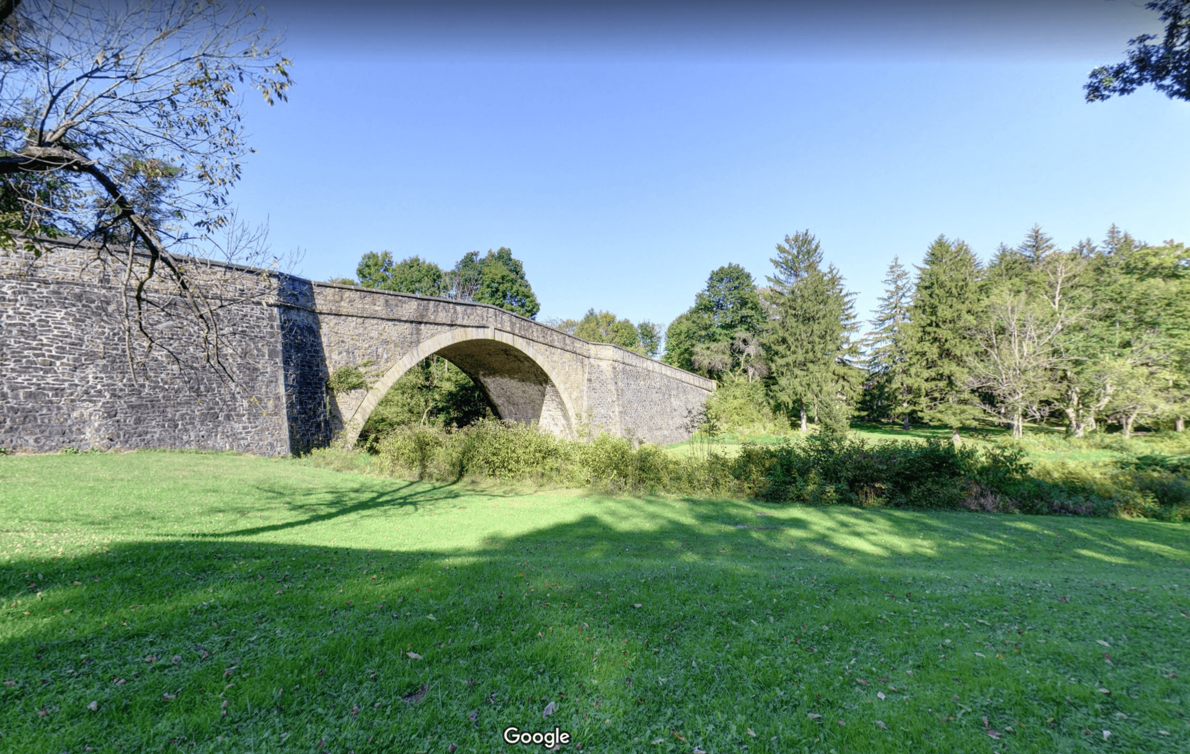 80-foot Span Stone Bridge in Grantsville, MD