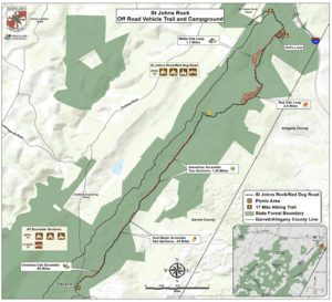 St. John's Rock ORV Trail Map