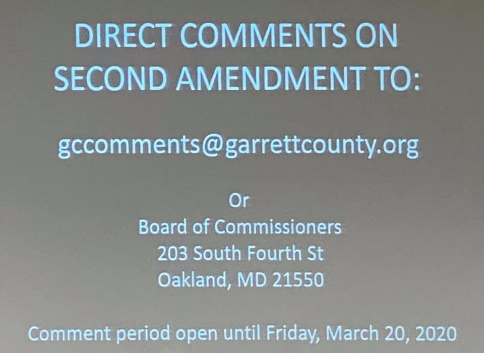 Second Amendment Comments