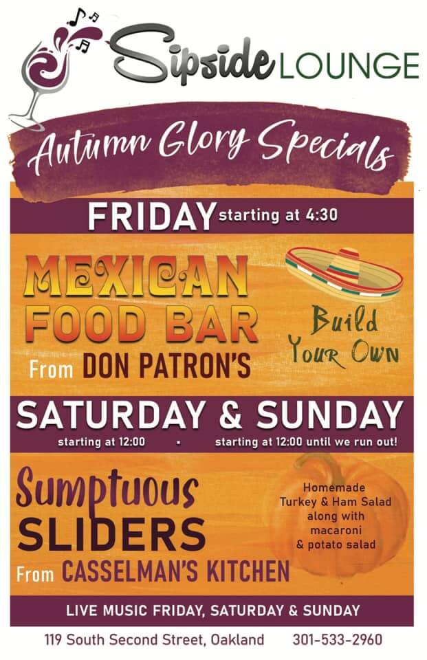 Sipside Lounge: Autumn Glory Specials