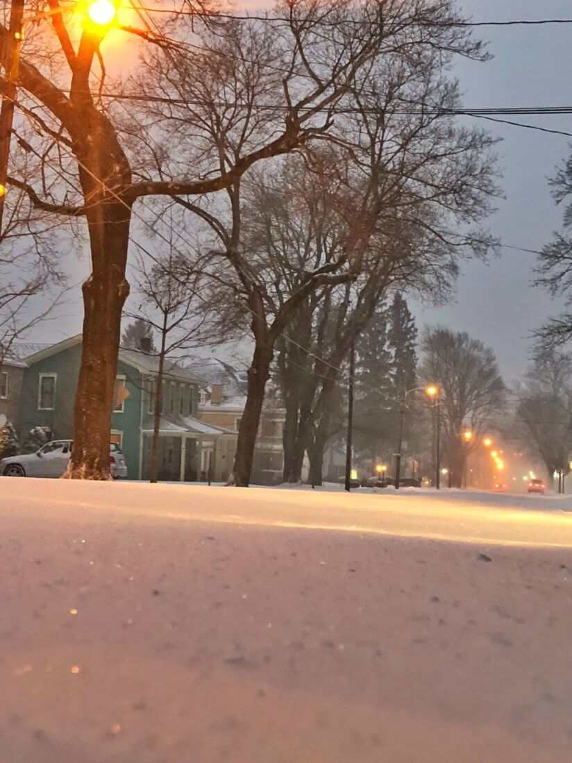 Snowy January in Deep Creek Lake, MD